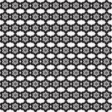 Blumen-Linie nahtloses Muster - Schwarzweiss-Farben Stockfotografie