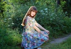Blumen-Mädchen Stockbild
