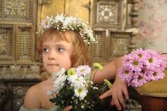 Blumen-Mädchen Lizenzfreies Stockbild