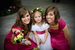 Blumen-Mädchen und Brautjunfern Lizenzfreie Stockfotografie