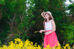 Blumen-Mädchenerbrechen Stockfoto