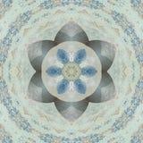 Blumen-medalion in der Blauer und weißer, Mandala- oder Fliesenarabeske vektor abbildung
