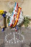 Blumen mit einem Friedenszeichen Stockbilder