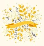 Blumen mit Farbband Lizenzfreie Stockfotos