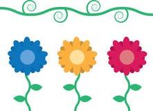 Blumen mit Rebe stock abbildung