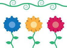 Blumen mit Rebe Stockfotos
