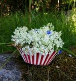 Blumen-Muffin lizenzfreies stockbild