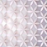 Blumen-Muster 3d Abstrakte Blumen mit Schatten Elegante Beschaffenheit, Vektorhintergrund Buntes modisches Design für Druck Stockbilder