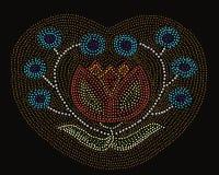 Blumen-Muster des amerikanischen Ureinwohners Lizenzfreies Stockfoto