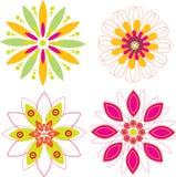 Blumen-Muster-Hintergrund-Satz Lizenzfreie Stockfotos