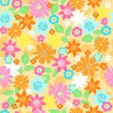 Blumen-nahtloser Wiederholungs-Muster-Vektor Stockfotografie