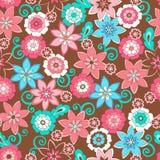 Blumen-nahtloses Wiederholungs-Muster Stockbild