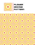 Blumen-Orangen-Muster stockfotos
