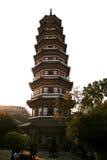 Blumen-Pagode des Tempels von sechs Banyanbäumen Stockbilder