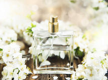 Blumen-Parfümflasche Lizenzfreie Stockfotografie
