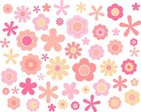 Blumen-Pastell, Vektorillustration Stockbild