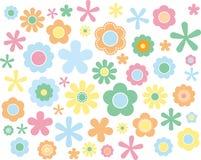 Blumen-Pastell, Vektorillustration Stockfotos