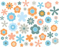 Blumen-Pastell, Vektorillustration Lizenzfreie Stockfotos