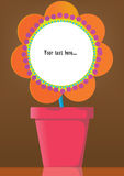 Blumen-Potenziometer Lizenzfreie Stockfotos