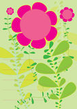 Blumen Profile_eps Lizenzfreie Stockfotografie
