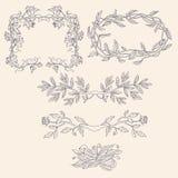 Blumen-Rahmen Stockfoto