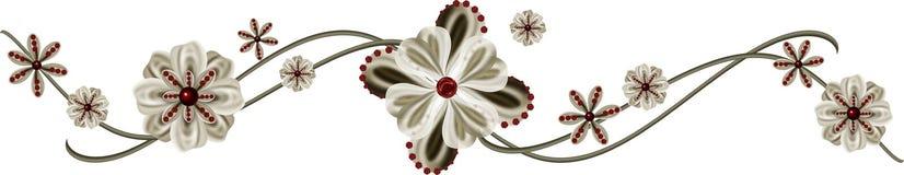 Blumen-Rand Stockfoto