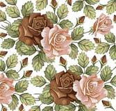 Blumen. Rosen. Schöner Hintergrund. Stockfotografie