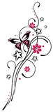 Blumen, Schmetterling, Ranke Stockfoto