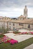 Blumen setzen in Girona Zeit fest Lizenzfreie Stockbilder