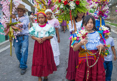 Blumen-u. Palmen-Festival in Panchimalco, El Salvador Stockfoto