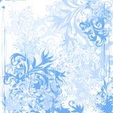 Blumen u. Schneeflocken lizenzfreie abbildung