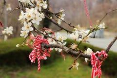 Blumen und Band des Gedächtnisses Lizenzfreies Stockfoto