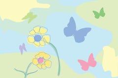 Blumen und Basisrecheneinheiten Lizenzfreies Stockfoto