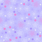 Blumen-und Basisrecheneinheits-nahtloses Wiederholungs-Muster Lizenzfreie Stockfotos