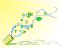 Blumen und Blätter Lizenzfreies Stockfoto