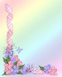 Blumen- und Butterfyhintergrund Stockfoto
