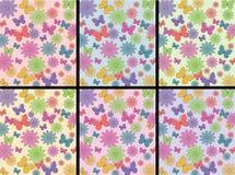 Blumen und butterrflies Muster Stockbild
