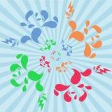 Blumen- und dekorativer Einzelteilhintergrund Lizenzfreies Stockbild
