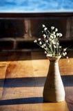 Blumen und ein Vase Stockfoto