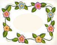 Blumen und Grünblätter Stockbild