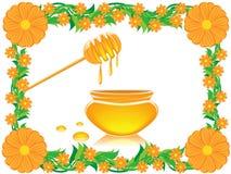 Blumen und Honig vektor abbildung