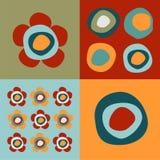 Blumen und Kreismuster vektor abbildung