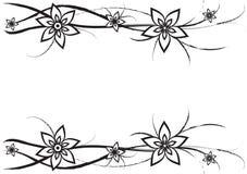 Blumen und Kurven lizenzfreie abbildung