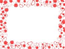 Blumen und Liebesrand Lizenzfreies Stockfoto