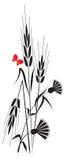 Blumen und Ohren Lizenzfreie Stockbilder