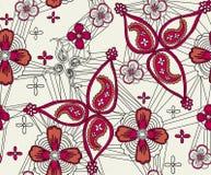 Blumen und Paisley Lizenzfreies Stockbild