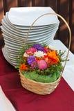 Blumen und Platten Lizenzfreies Stockbild