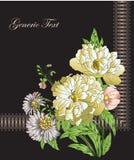 Blumen und Spitze Stockbilder