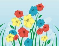Blumen und Stämme stock abbildung