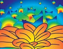 Blumen und Sterne Lizenzfreies Stockfoto